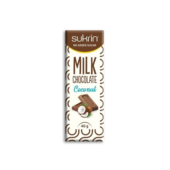 Sukrin Milk Chocolate with Coconut -40gr