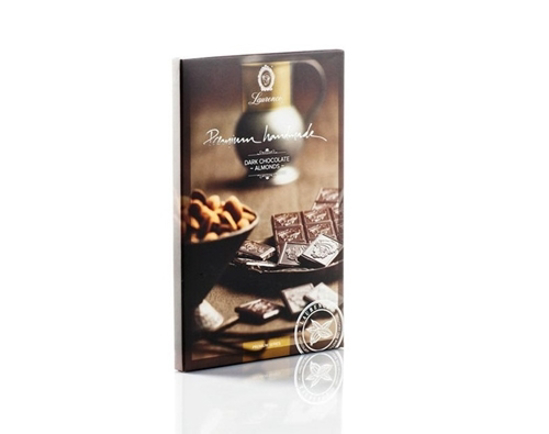 Picture of Laurence Premium Dark Chocolate with Almonds 75gr