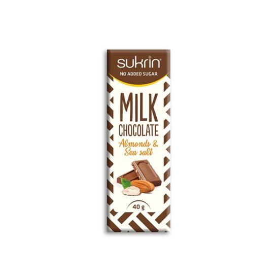Sukrin Milk Chocolate salt & almond 40gr