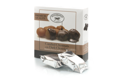 Picture of Potamianos Marrons Glaces  with dark chocolate 270gr